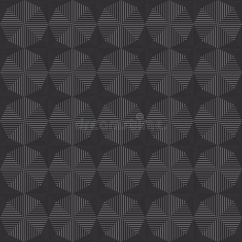 Fondo geométrico monocromático inconsútil abstracto de los modelos; Repetición de las tejas de la textura; diseño del vector libre illustration
