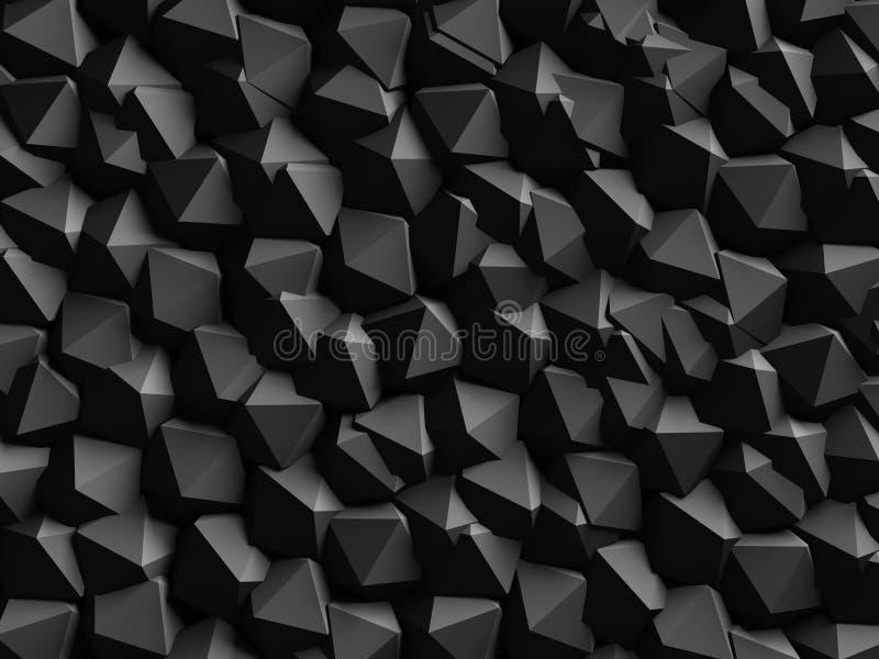 Fondo geométrico oscuro abstracto de la pared imagenes de archivo