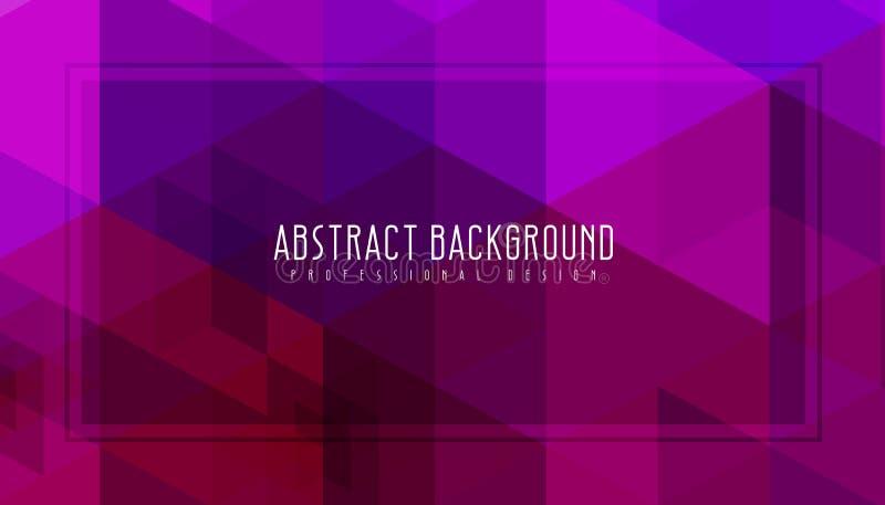 Fondo geométrico púrpura abstracto Ejemplo asombroso del vector Será utilizado para el folleto, los aviadores, el cartel etc ilustración del vector