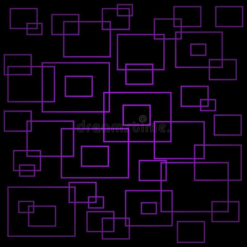 Fondo geom?trico p?rpura del extracto con el cubo Modelo abstracto, ejemplo del vector libre illustration