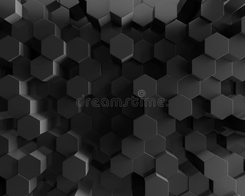 Fondo geométrico poligonal abstracto del hexágono ilustración del vector
