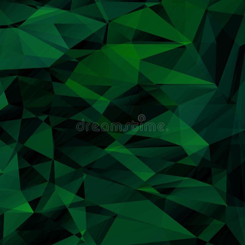 Fondo geométrico poligonal para el diseño del sitio web, fondo FO stock de ilustración