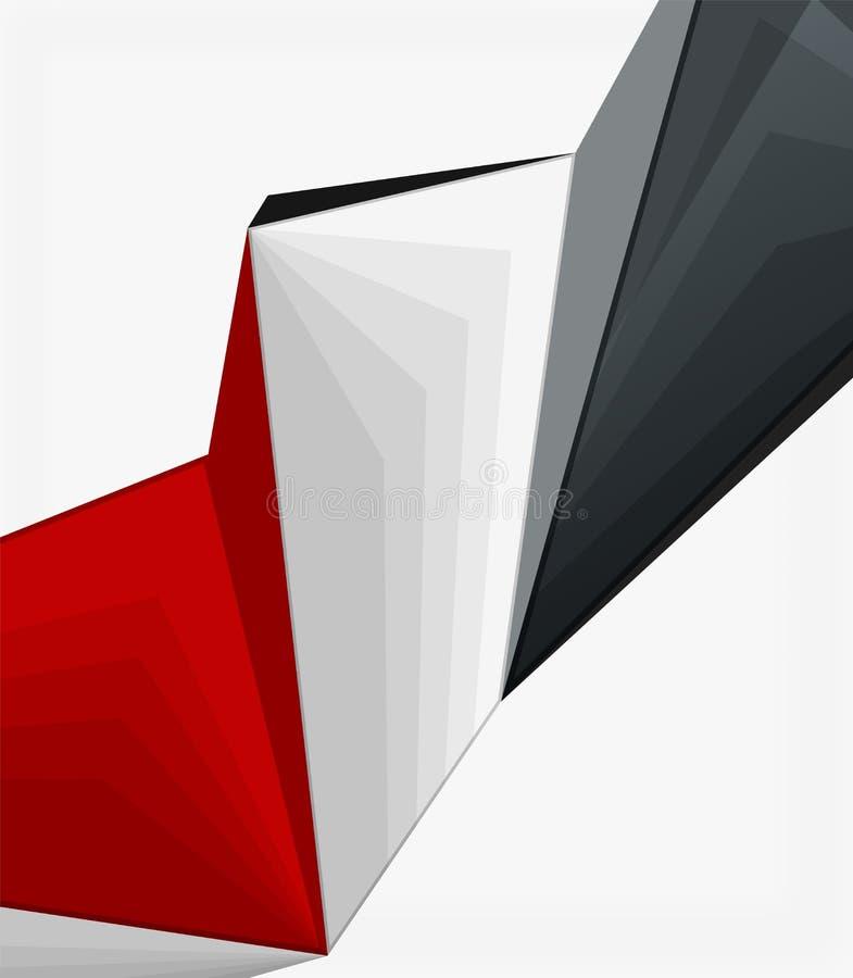 Fondo geométrico polivinílico bajo de la forma 3d ilustración del vector