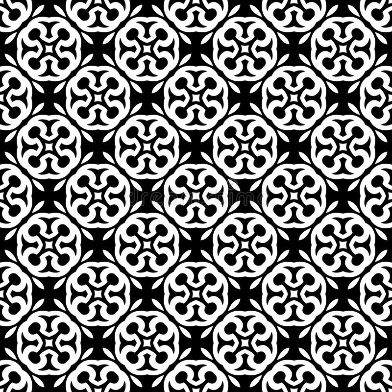 Fondo geométrico repetido inconsútil blanco y negro del modelo del arte libre illustration