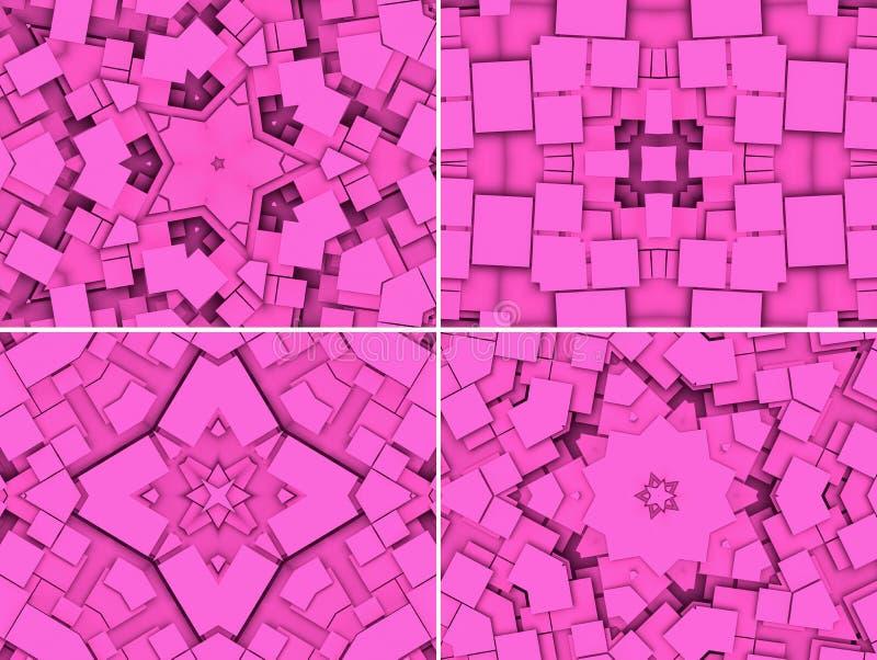 Fondo geométrico rosado abstracto fotos de archivo libres de regalías