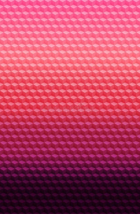 Fondo geométrico rosado púrpura del extracto del modelo 3D del cubo, 3d moderno libre illustration