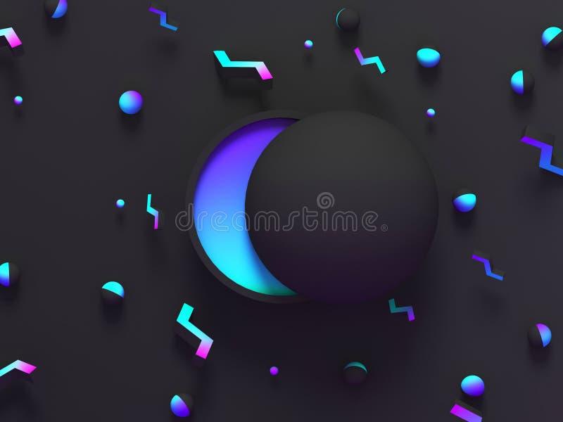 Fondo geométrico sombreado extracto 3d Diseño moderno negro del resplandor para el cartel, cubierta, bandera, tarjeta libre illustration