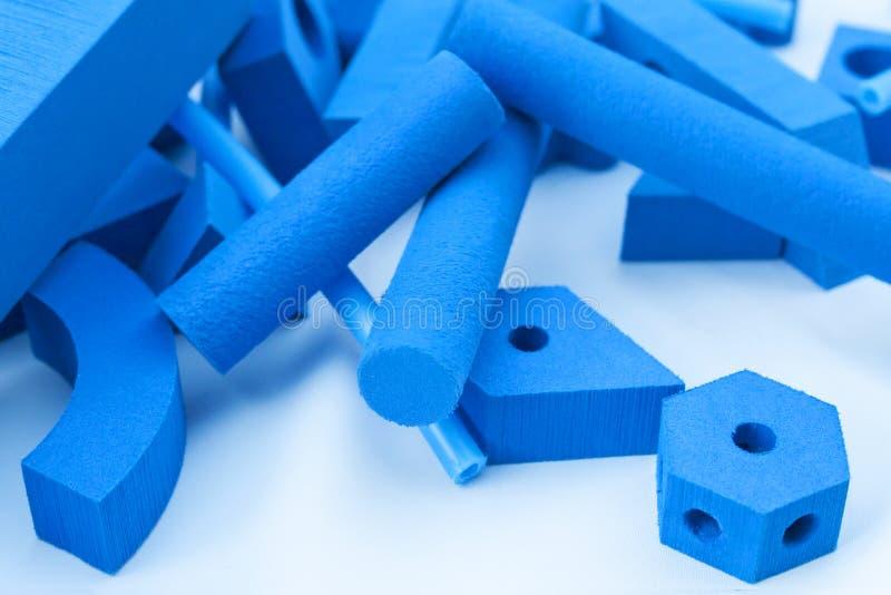 Fondo geométrico tridimensional azul de las formas imagen de archivo libre de regalías