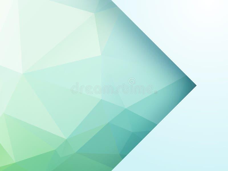 Fondo geométrico verde abstracto con la flecha ilustración del vector