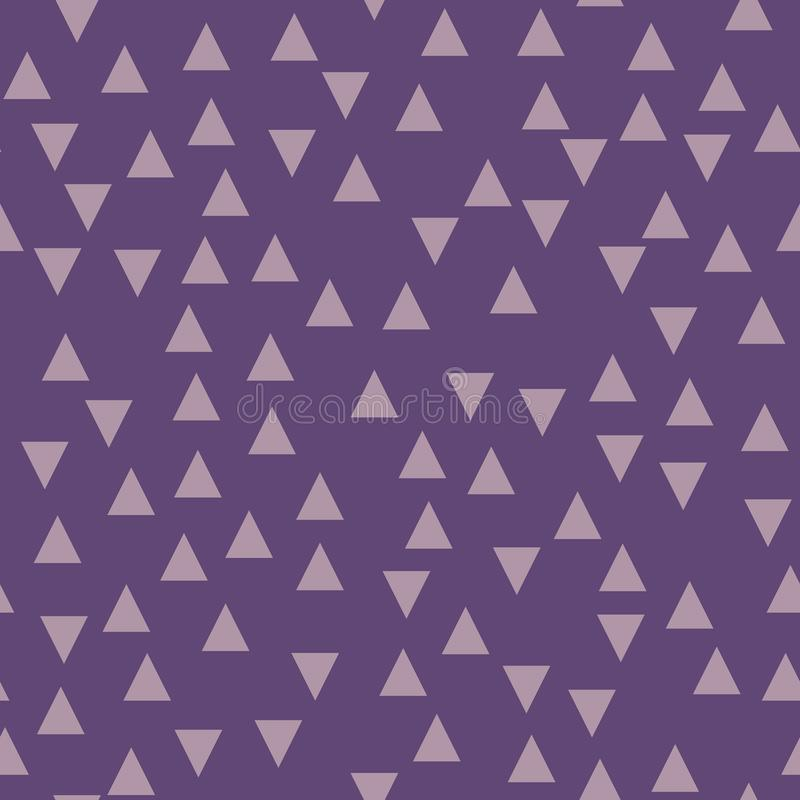 Fondo geométrico violeta con los triángulos Modelo inconsútil Color de moda Ilustración del vector stock de ilustración