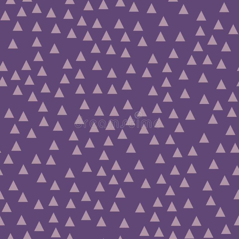 Fondo geométrico violeta con los triángulos Modelo inconsútil Color de moda Ilustración del vector libre illustration