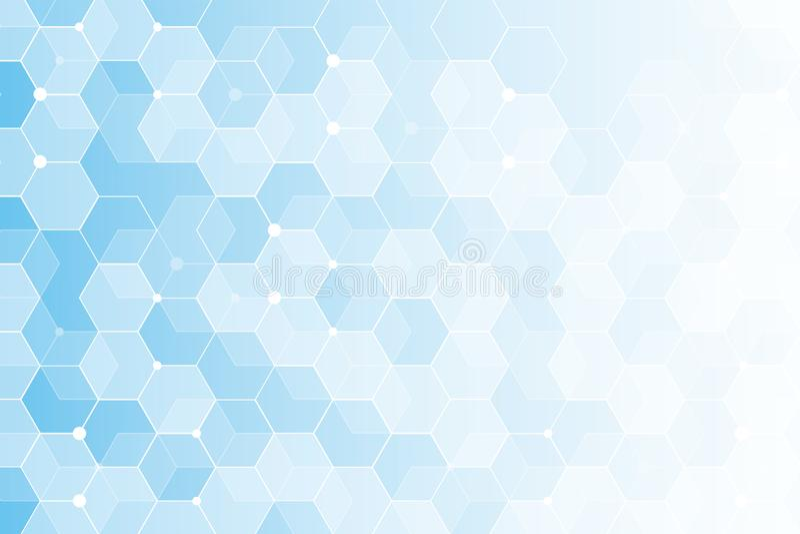 Fondo geom?trico abstracto del vector Forma azul del hex?gono libre illustration