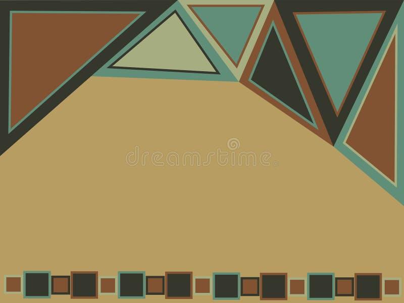 Fondo geom?trico abstracto para el dise?o Papel pintado con los triángulos y los cuadrados ilustración del vector