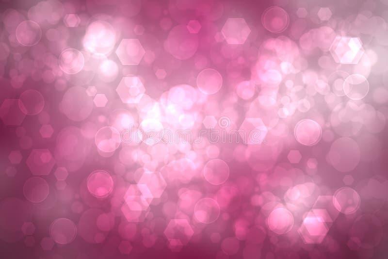 Fondo geom?trico del pol?gono Textura rosada abstracta del fondo con pent?gono geom?trico o un fondo abstracto de la superficie d imagen de archivo libre de regalías