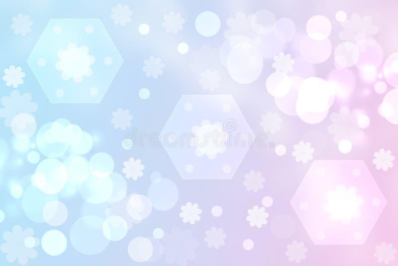 Fondo geom?trico del pol?gono Textura rosada azul del fondo de la pendiente del extracto con pentágono geométrico o una fantasía  ilustración del vector