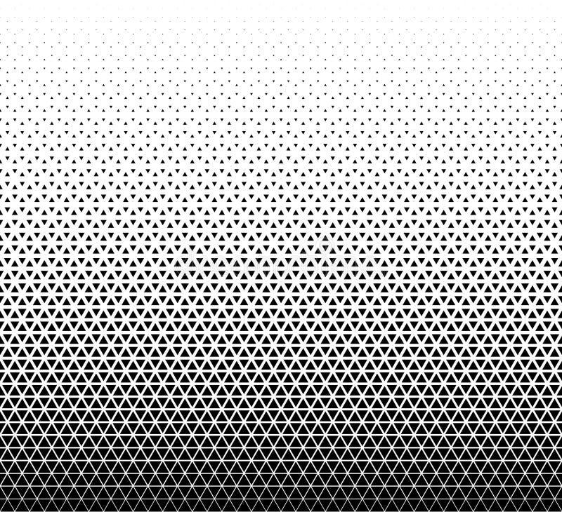 Fondo geom?trico incons?til del vector Triángulos negros en el fondo blanco stock de ilustración