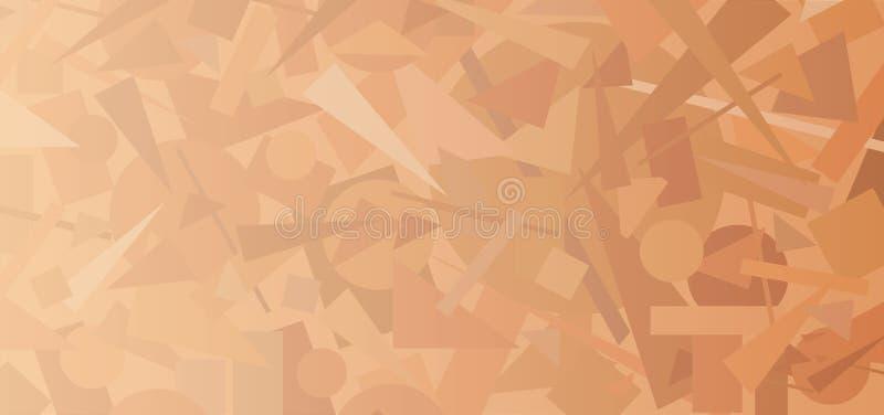 Fondo geometrico astratto illustrazione di stock