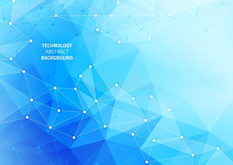 Fondo geometrico astratto con le linee ed i punti Modello sull'argomento di tecnologia moderna illustrazione di stock