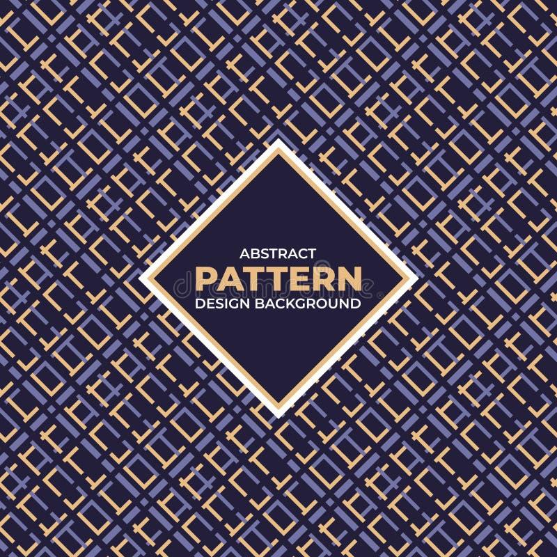 Fondo geometrico astratto del modello con il nero ed il colore porpora dell'oro illustrazione vettoriale