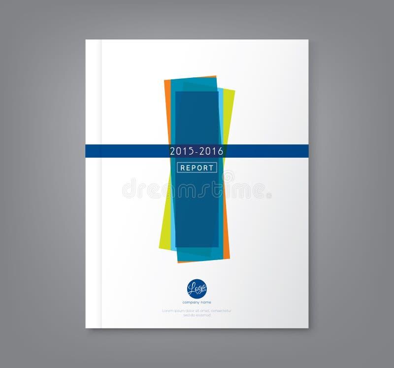 Fondo geometrico astratto di forme per il rapporto annuale di affari illustrazione di stock