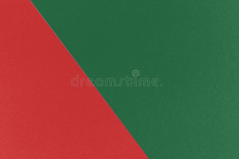 Fondo geometrico astratto di Natale con i colori del mattone refrattario e di Cal Poly Pomona Green, struttura della carta dell'a immagine stock libera da diritti