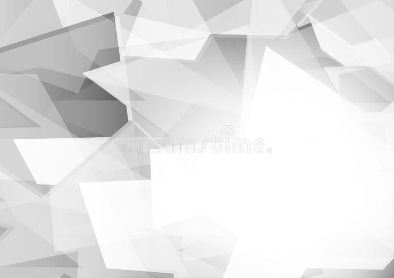 Fondo geometrico astratto di progettazione moderna di colore grigio e d'argento, illustrazione di vettore royalty illustrazione gratis