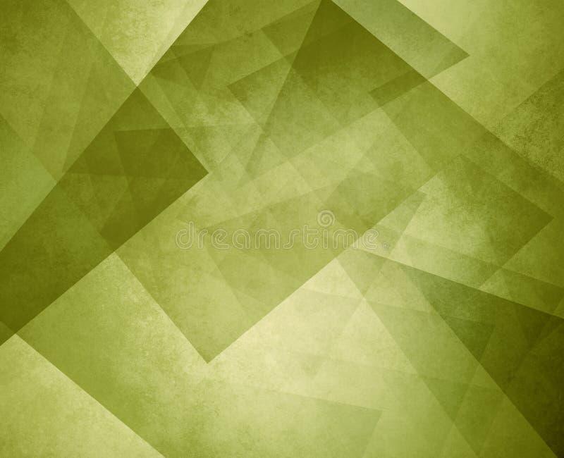 Fondo geometrico astratto di verde verde oliva con gli strati dei cerchi rotondi con progettazione afflitta di struttura illustrazione vettoriale