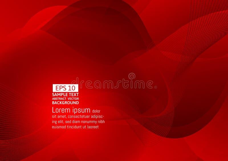 Fondo geometrico astratto eps10 di vettore di progettazione moderna di colore rosso illustrazione vettoriale