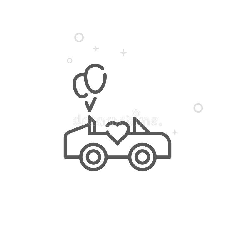 Fondo geometrico astratto leggero Colpo editabile illustrazione di stock