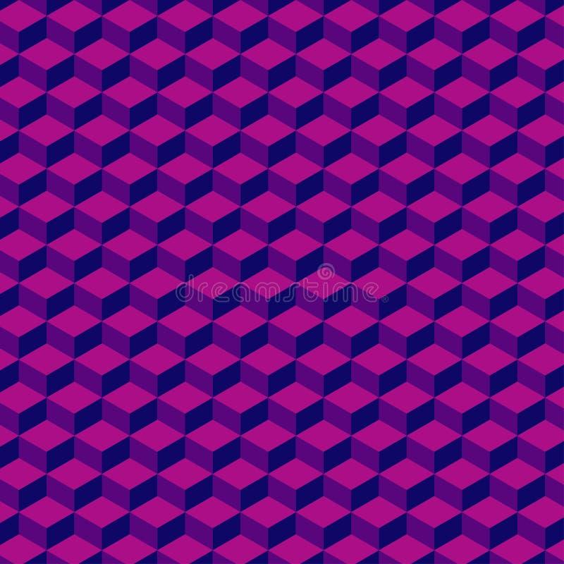 Fondo geometrico astratto nel colore del viotet Fondo di vettore Fondo quadrato illustrazione vettoriale