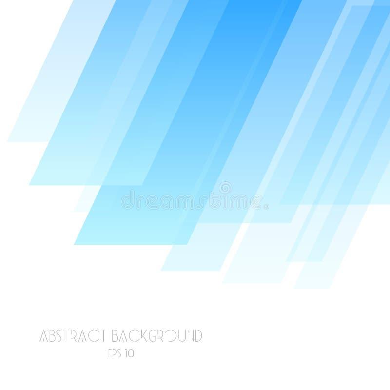 Fondo geometrico astratto nella linea stile piana illustrazione di stock