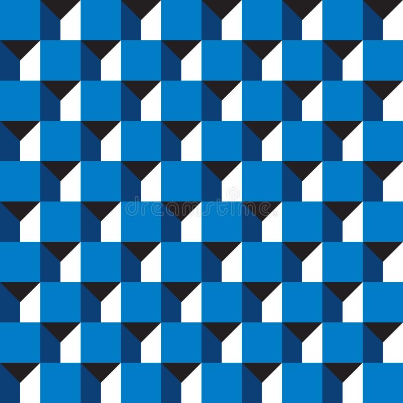 Fondo geometrico astratto senza cuciture del modello della costruzione del blocco 3d illustrazione vettoriale
