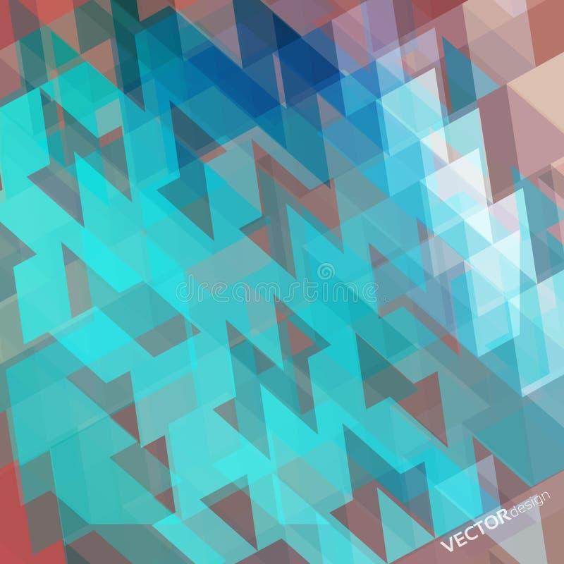 Fondo geometrico astratto variopinto illustrazione vettoriale