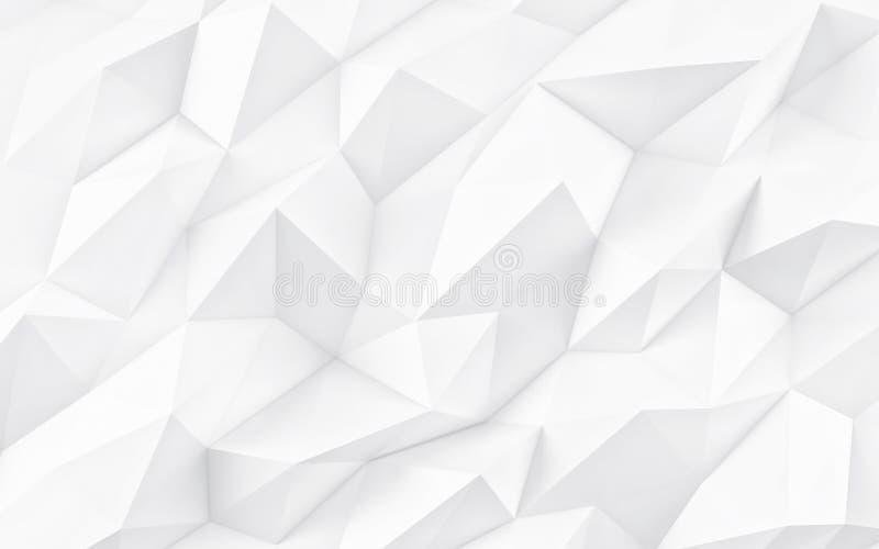 Fondo geometrico bianco astratto Struttura bianca con ombra 3d rendono illustrazione vettoriale