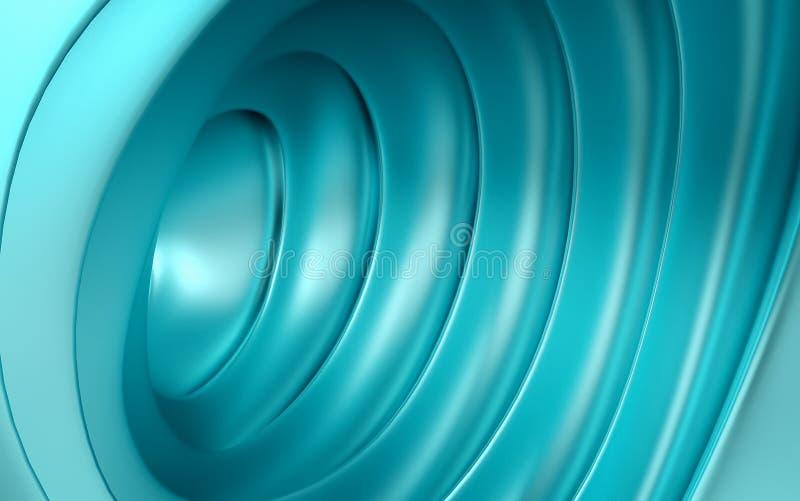 Fondo geometrico blu astratto del cono 3 D rendono illustrazione vettoriale