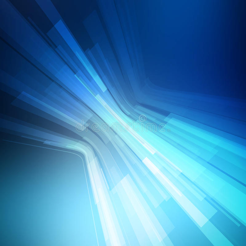 Fondo geometrico blu astratto prospettiva 3D illustrazione vettoriale