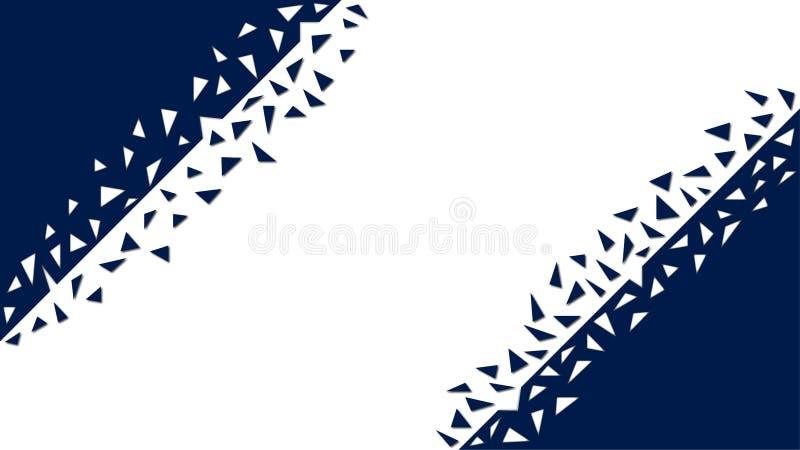 Fondo geometrico blu dell'estratto con le forme rotte illustrazione vettoriale