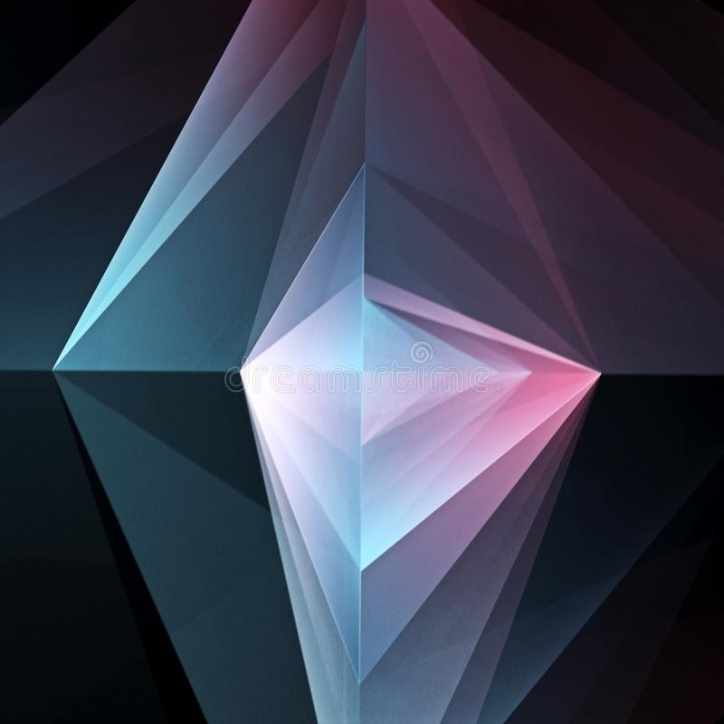 Fondo geometrico Blu-porpora astratto royalty illustrazione gratis