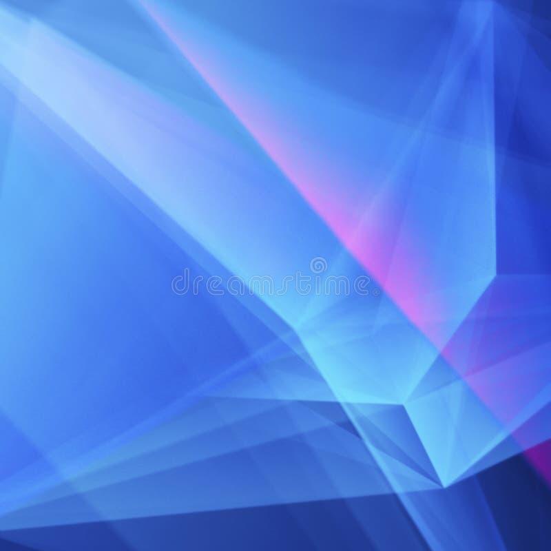 Fondo geometrico Blu-porpora molle astratto illustrazione di stock