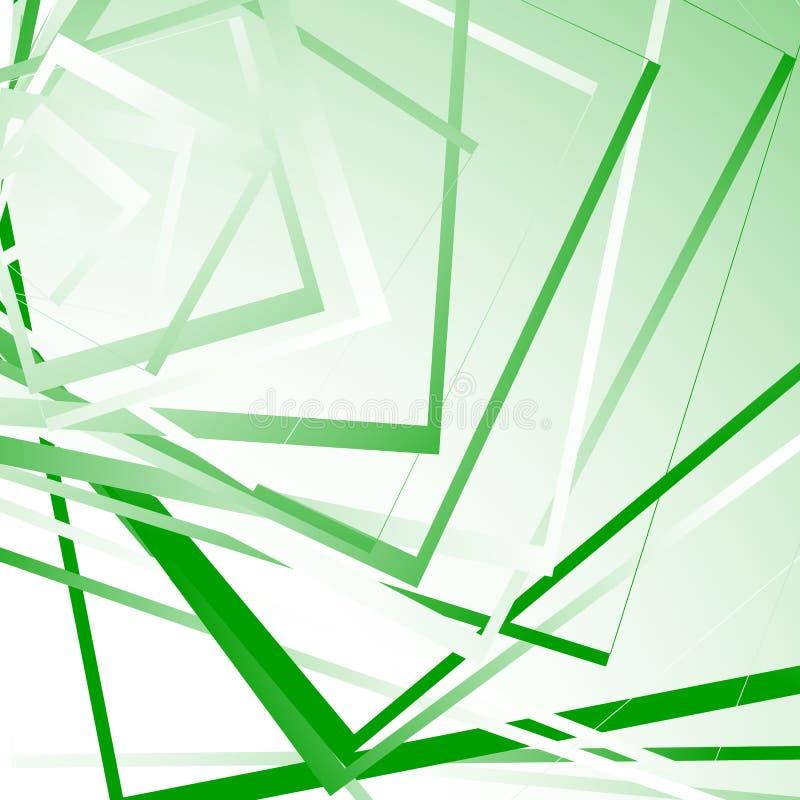 Fondo geometrico con i quadrati casuali Modello monocromatico irritabile illustrazione di stock