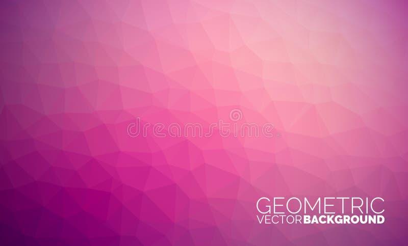 Fondo geometrico dei triangoli di vettore illustrazione di stock