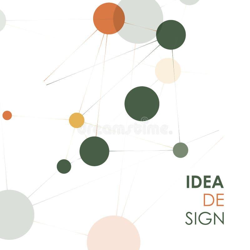 Fondo geometrico del collegamento Molecola ed illustrazione di comunicazione illustrazione di stock