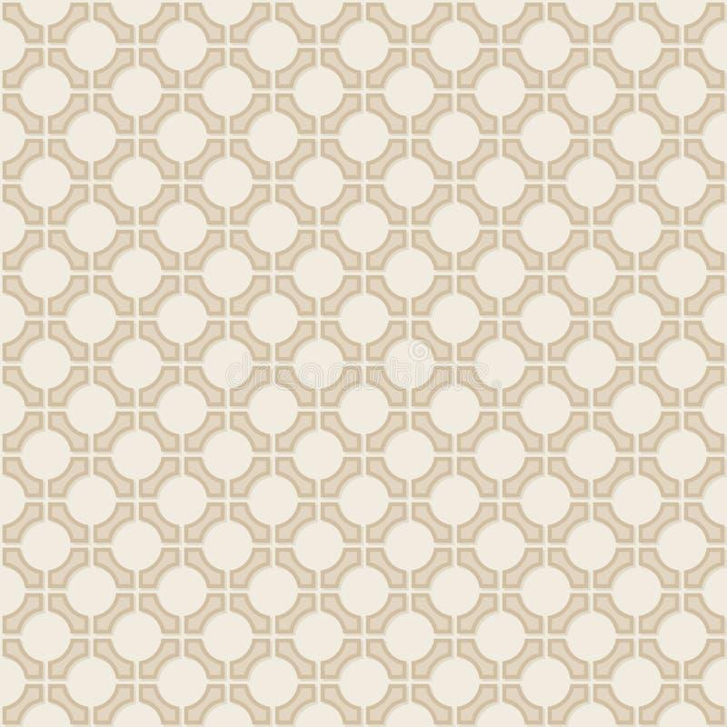 Picchiettio geometrico della carta da parati dell'annata senza cuciture di vettore royalty illustrazione gratis