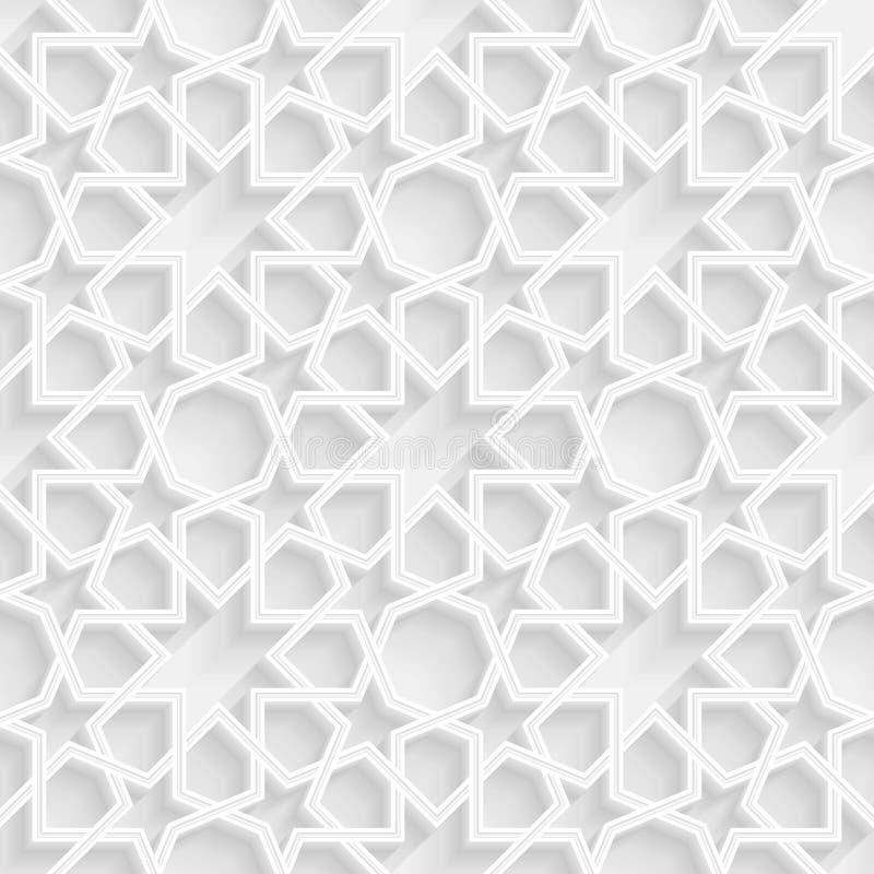 fondo geometrico del motivo a stelle 3d royalty illustrazione gratis