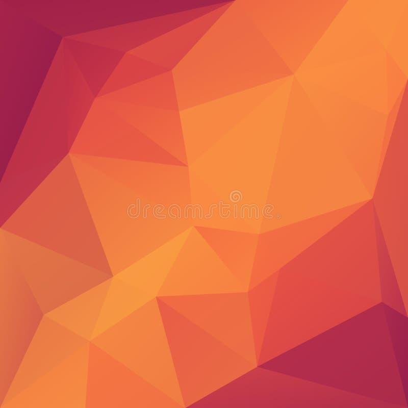 Fondo geometrico del triangolo astratto illustrazione vettoriale