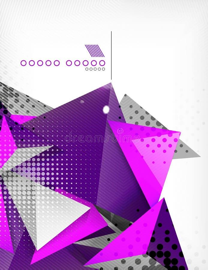 Fondo geometrico dell'estratto del triangolo di forma illustrazione vettoriale