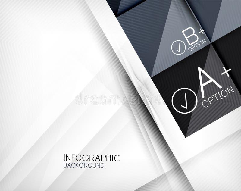 Fondo geometrico dell'estratto di forma di Infographic illustrazione di stock
