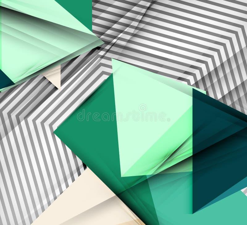 Fondo geometrico dell'estratto di vettore illustrazione vettoriale