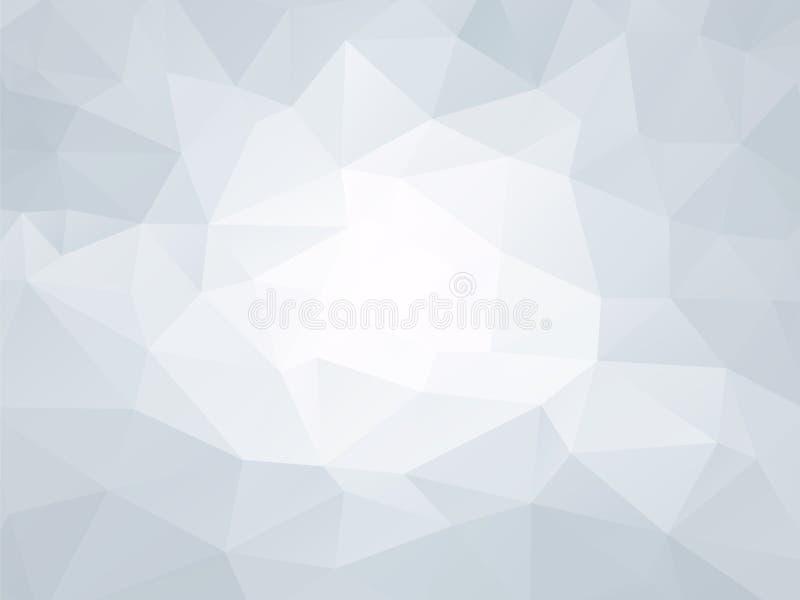 Fondo geometrico della carta blu illustrazione di stock