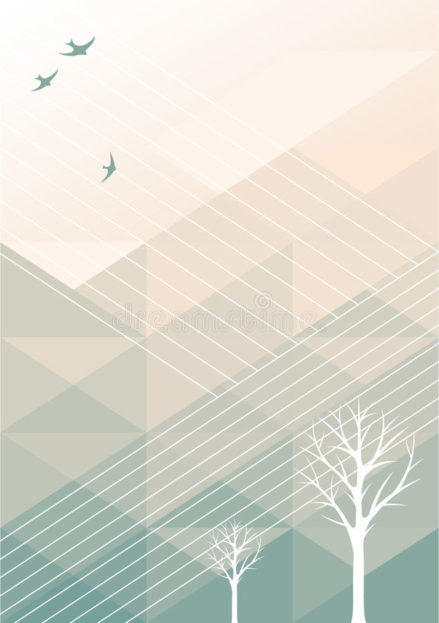 Fondo geometrico della primavera illustrazione di stock
